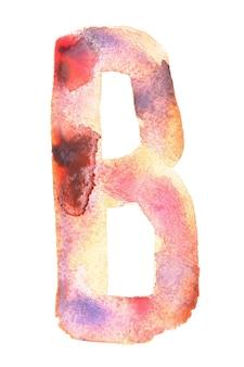 B - alfabeto aquarela feito à mão