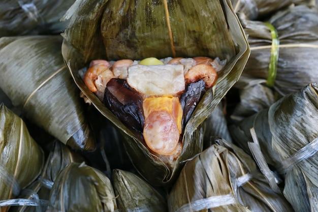 Ba-jang, comida tradicional chainese feita de arroz e cereais