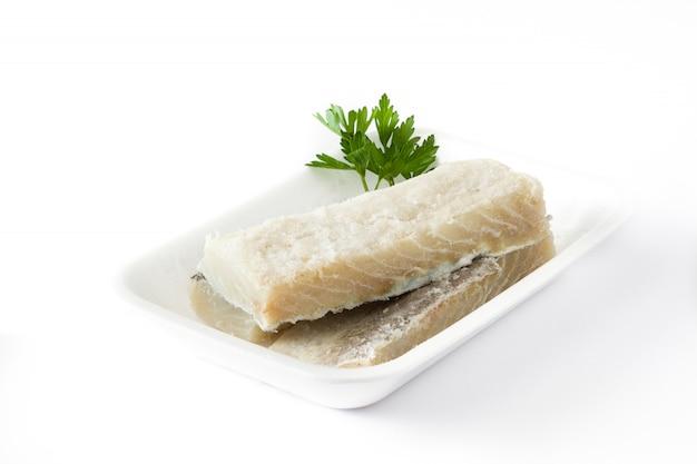 Bacalhau seco salgado isolado comida típica da páscoa