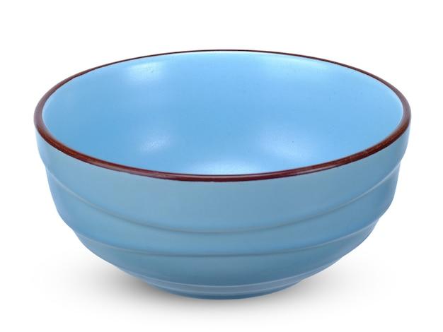 Bacia azul isolada no branco.