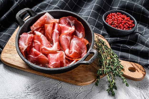 Bacon laminado italiano pancetta piacentina