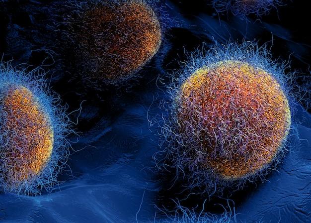 Bactérias intestinais. ilustração 3d