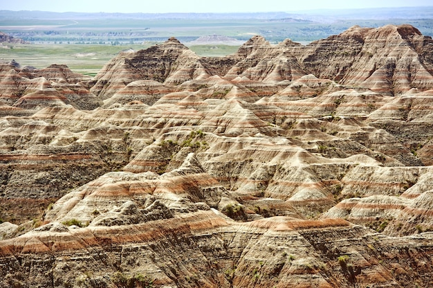 Badlands scenery, eua