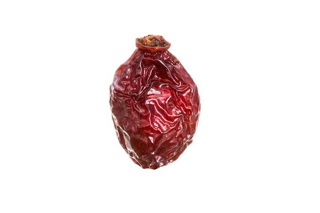 Baga de rosa mosqueta seca isolada no fundo branco. foto de alta qualidade