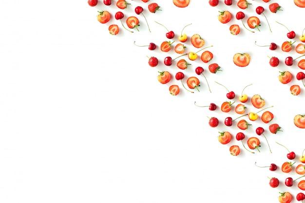 Bagas de frutas frescas orgânicas