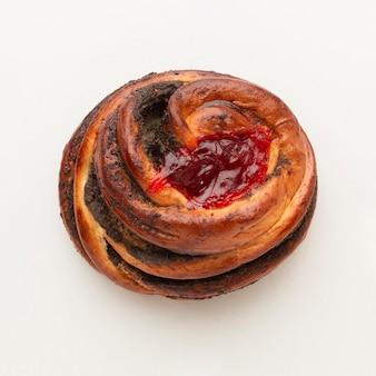 Bagel doce com chocolate