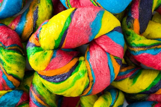 Bagels coloridos