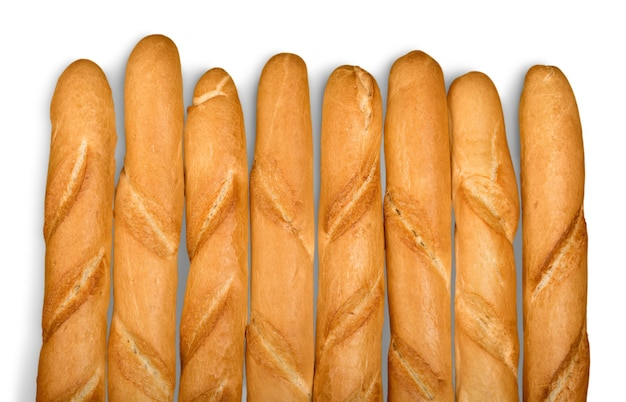 Baguetes de pão caseiro fresco, close-up