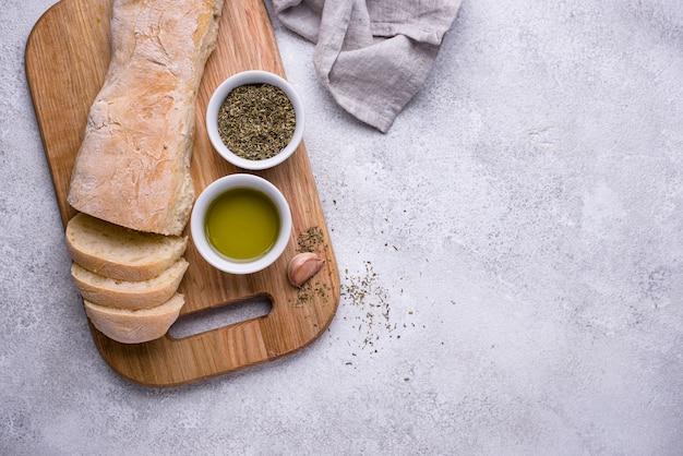 Baguetes francesas caseiras com azeite