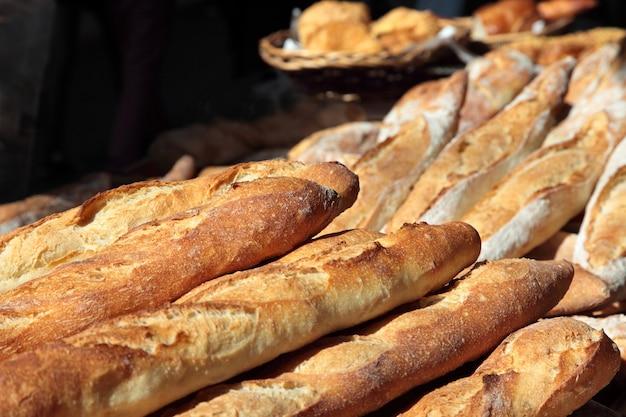 Baguetes no mercado em frança