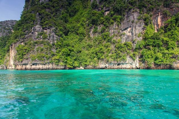 Baía de maya phi phi leh ilha, krabi tailândia