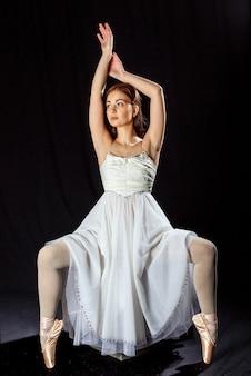 Bailarina antes da apresentação
