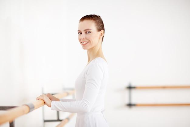 Bailarina durante o treinamento