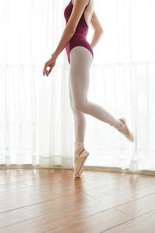 Bailarina em treinamento