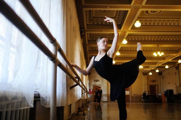 Bailarina em uma aula de balé