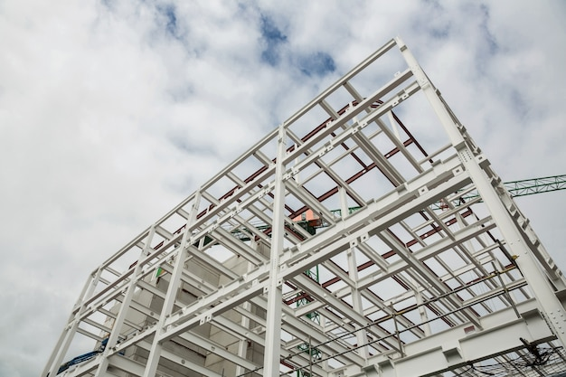 Baixo, ângulo de scafolding na construção