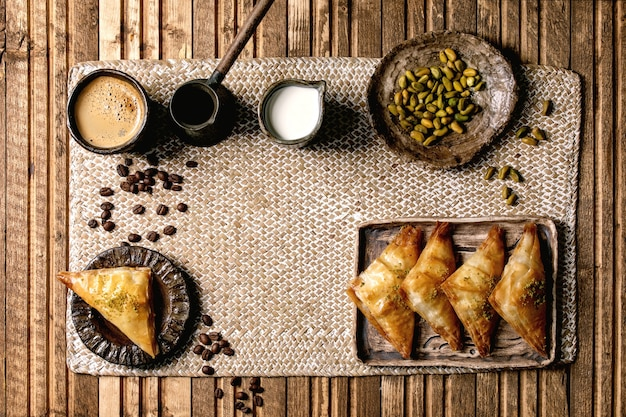 Baklava de sobremesa turca