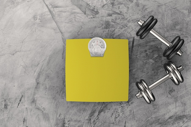 Balanças de peso com halteres de metal