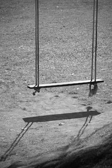Balanço solitário em estilo monocromático