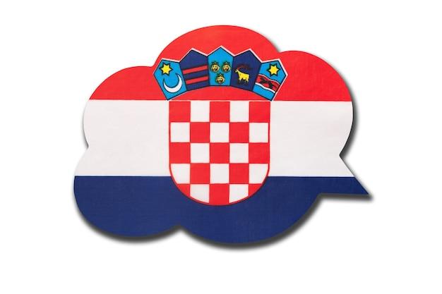 Balão 3d com a bandeira nacional da croácia em fundo branco