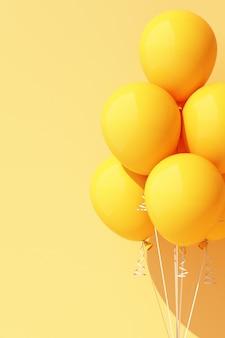 Balão amarelo em amarelo