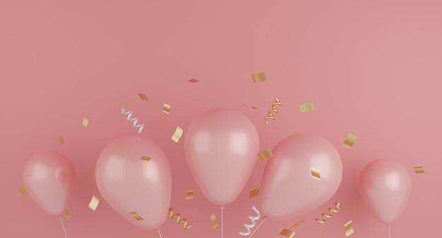 Balão com fita aniversário, aniversário decorativo. conceito festivo