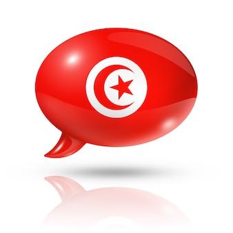 Balão da bandeira da tunísia