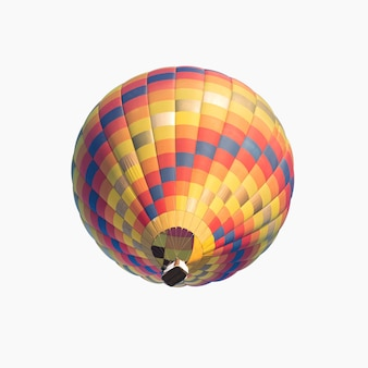 Balão de ar quente colorido isolado no fundo branco