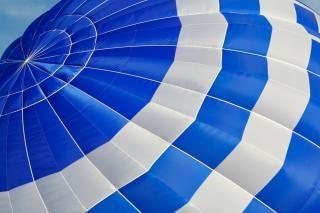Balão de ar quente de perto