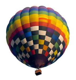 Balão de ar quente isolado no branco