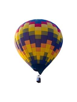 Balão de ar quente isolado no fundo branco.