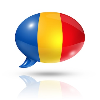 Balão de bandeira da roménia