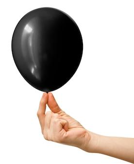 Balão inflável escuro isolado