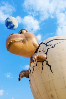 Balão internacional do parque de singha no parque de singha, chiang rai, tailândia.