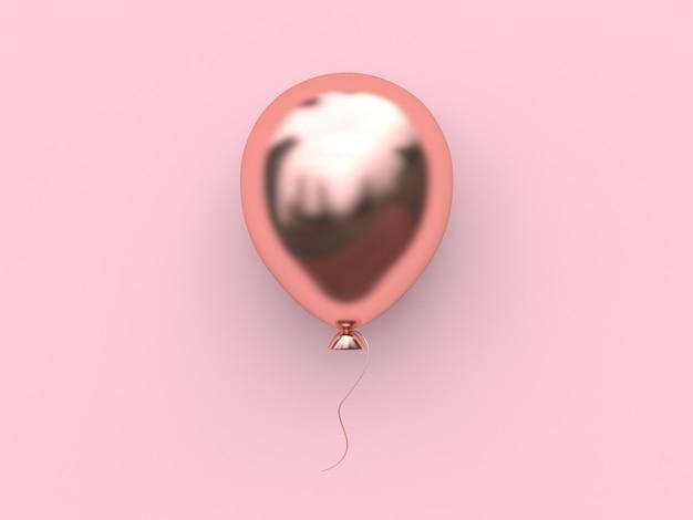 Balão metálico de ouro rosa