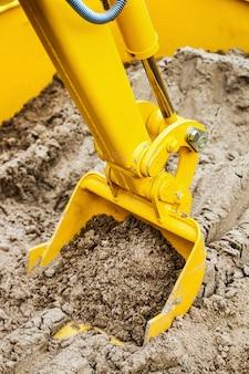 Balde de construção, trator ou escavadeira