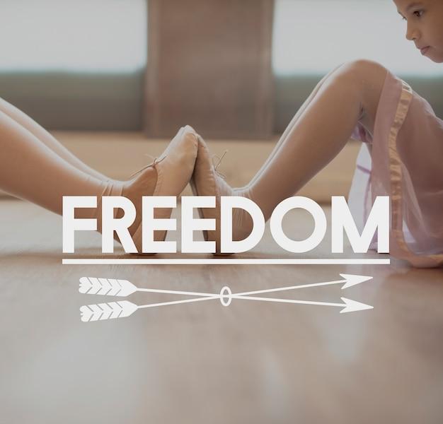 Ballerina recreation dancing passatempo conceito de ensaio