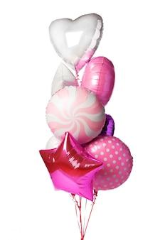 Balões coloridos brilhantes