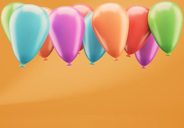 Balões coloridos na laranja