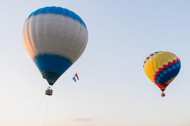 Balões coloridos no aky