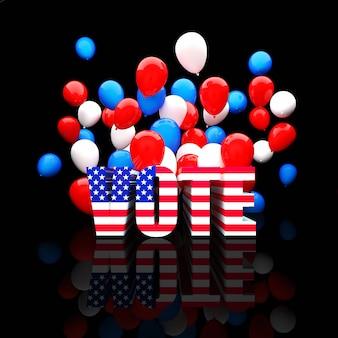 Balões da eleição dos eua