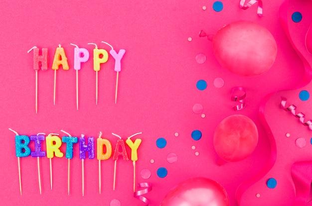 Balões de aniversário coloridos