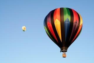 Balões de ar quente cores