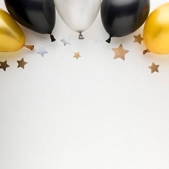 Balões de cópia-espaço para festa