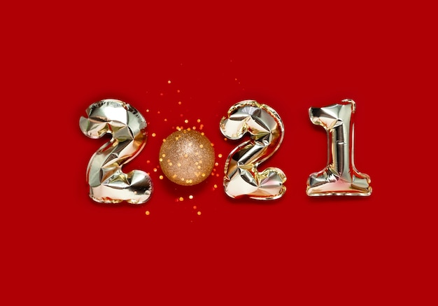 Balões de folha de prata 2021