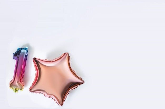 Balões isolados coloridos