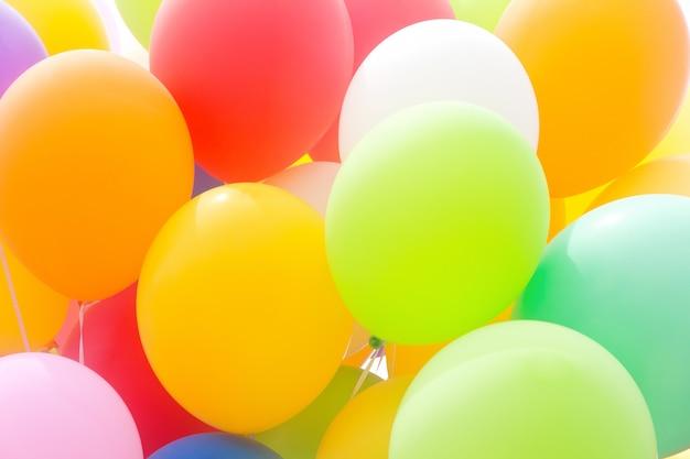 Balões multicolor
