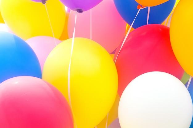 Balões multicoloridos
