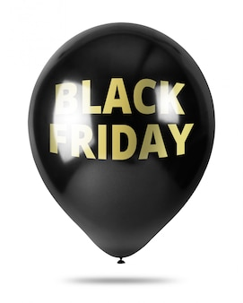 Balões pretos isolados no fundo branco. conceito de promoção de sexta-feira negra.