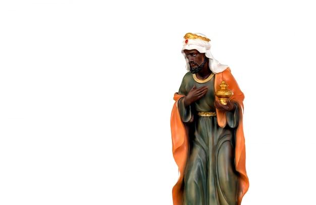 Baltasar, um dos três homens sábios.